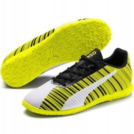 Scarpe da calcio Puma One 5.4 It Jr 105664 04 giallo bianco, nero, giallo 3