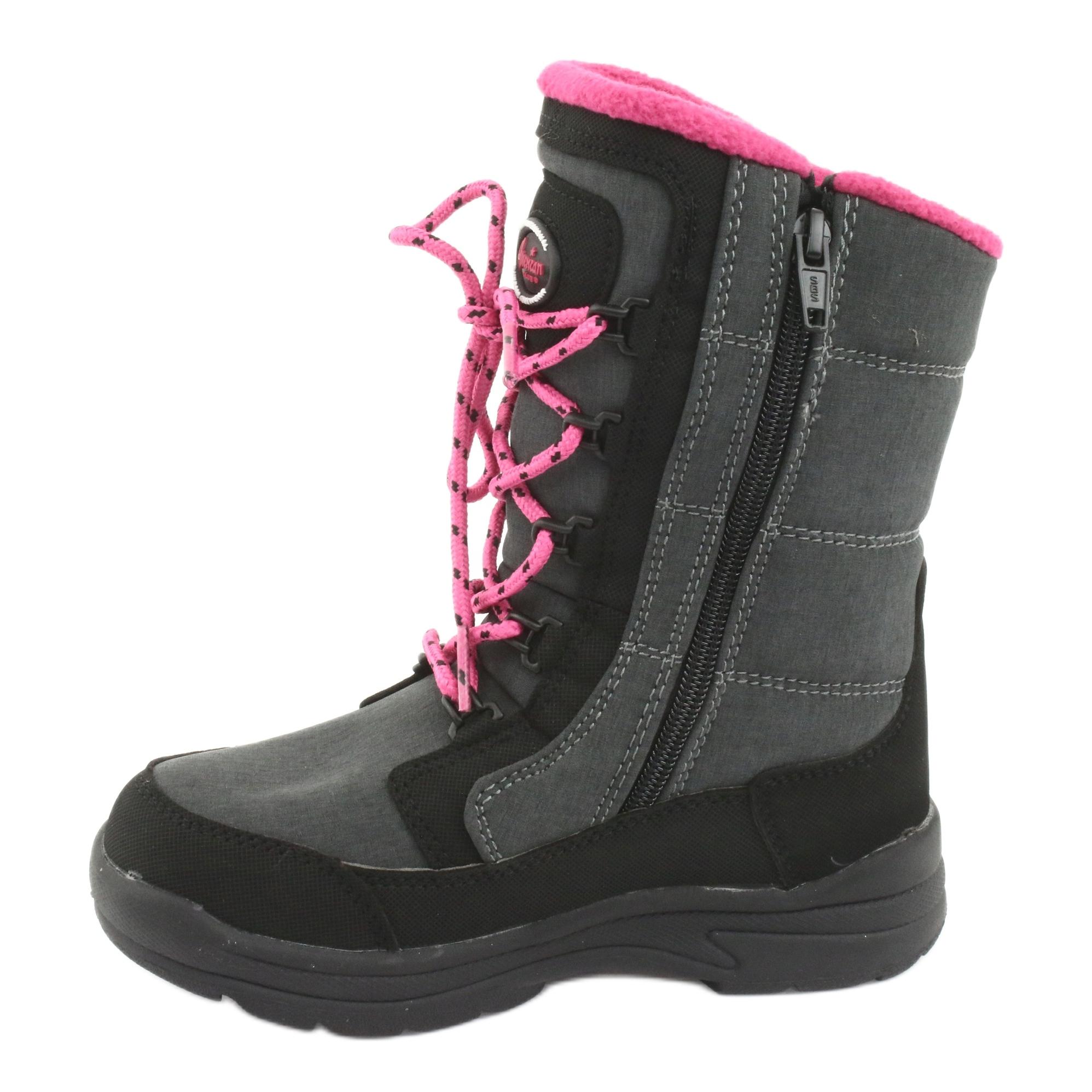 miniatura 3 - Stivali da neve con membrana American club SN13 grigia nero rosa grigio