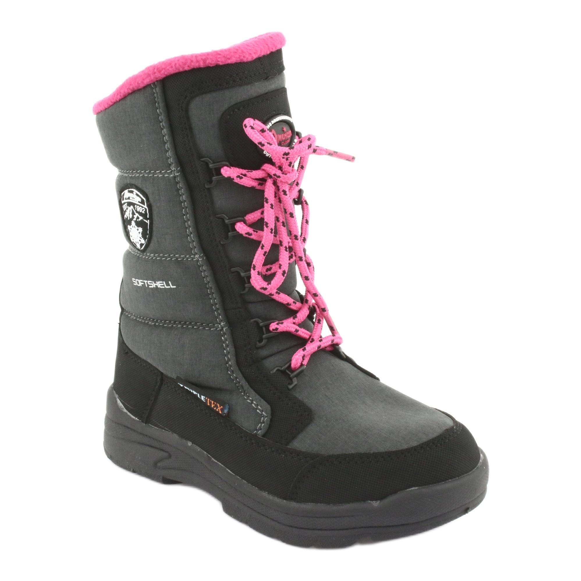 miniatura 2 - Stivali da neve con membrana American club SN13 grigia nero rosa grigio