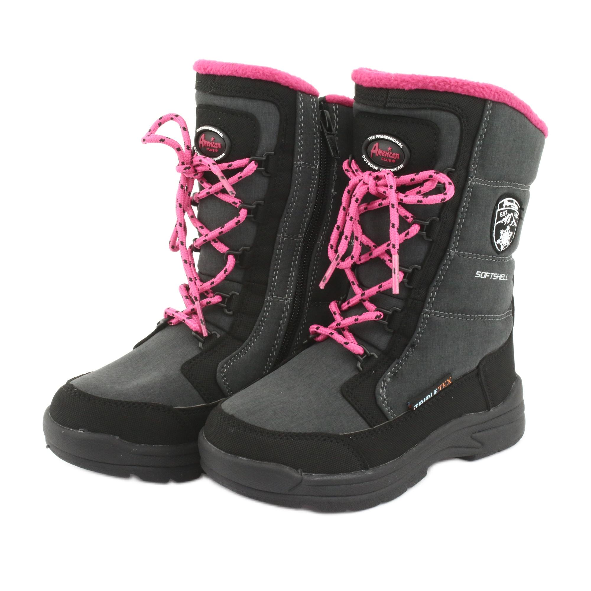 miniatura 4 - Stivali da neve con membrana American club SN13 grigia nero rosa grigio