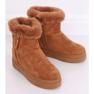Stivali da neve con pelliccia di cammello PP-30 Camel marrone 3