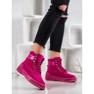 Yes Mile Stivali alla moda annodati rosa 1