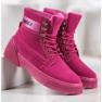 Yes Mile Stivali alla moda annodati rosa 3