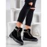 Yes Mile Stivali alla moda annodati nero 1