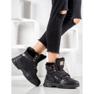 Yes Mile Sneakers con pelliccia nero 5