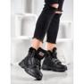 Yes Mile Sneakers con pelliccia nero 1