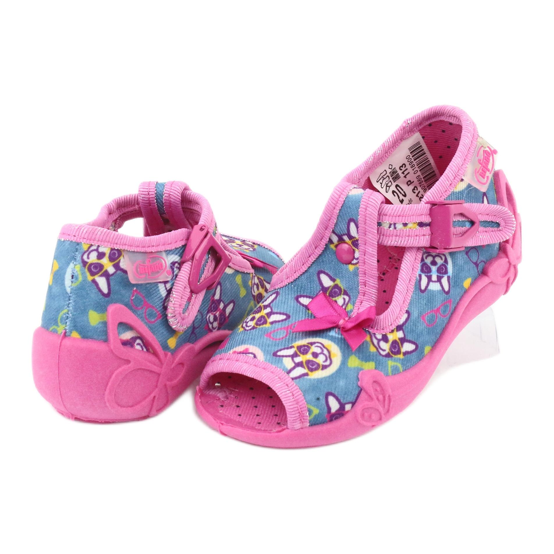 miniatura 6 - Scarpe per bambini rosa Befado 213P113 blu multicolore