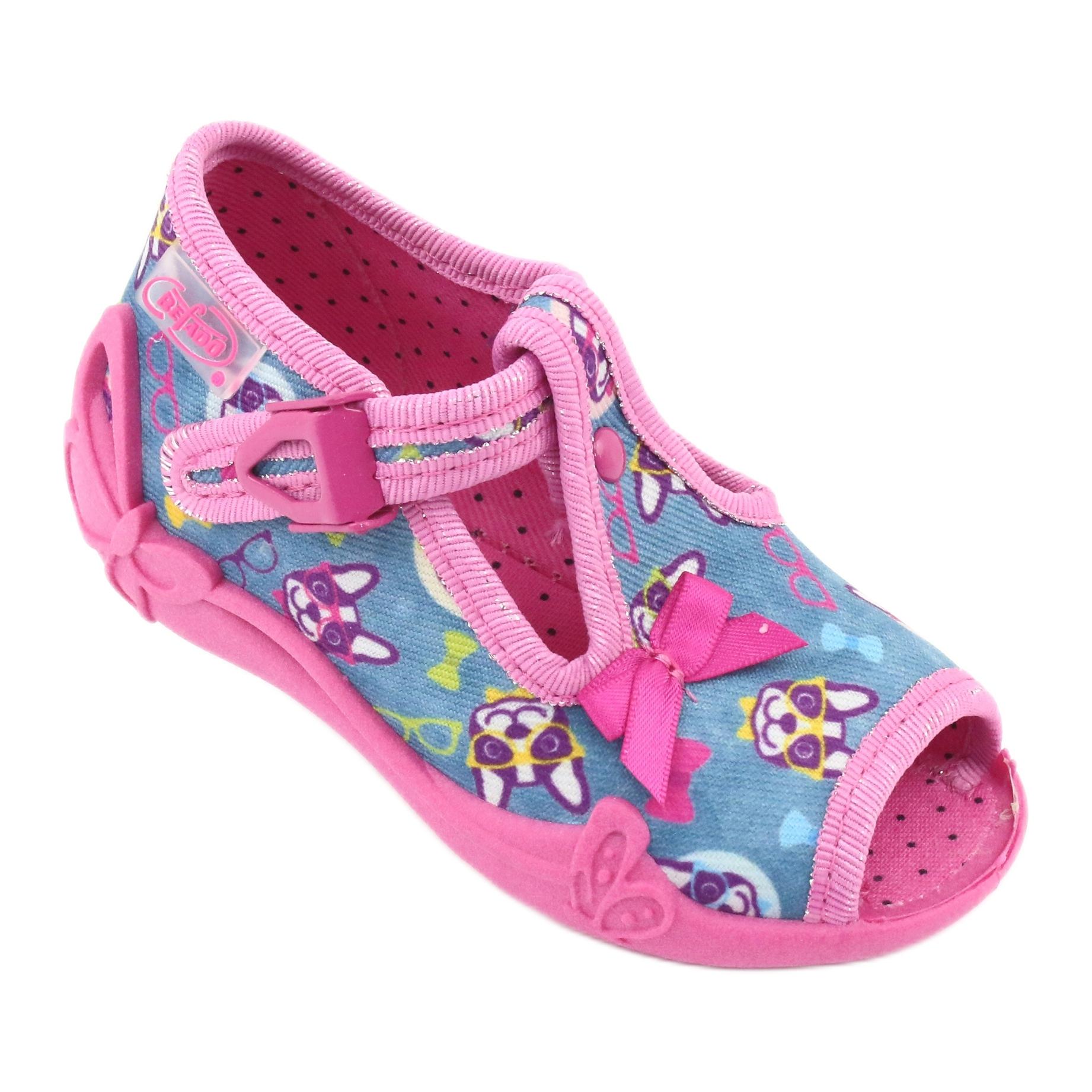 miniatura 3 - Scarpe per bambini rosa Befado 213P113 blu multicolore