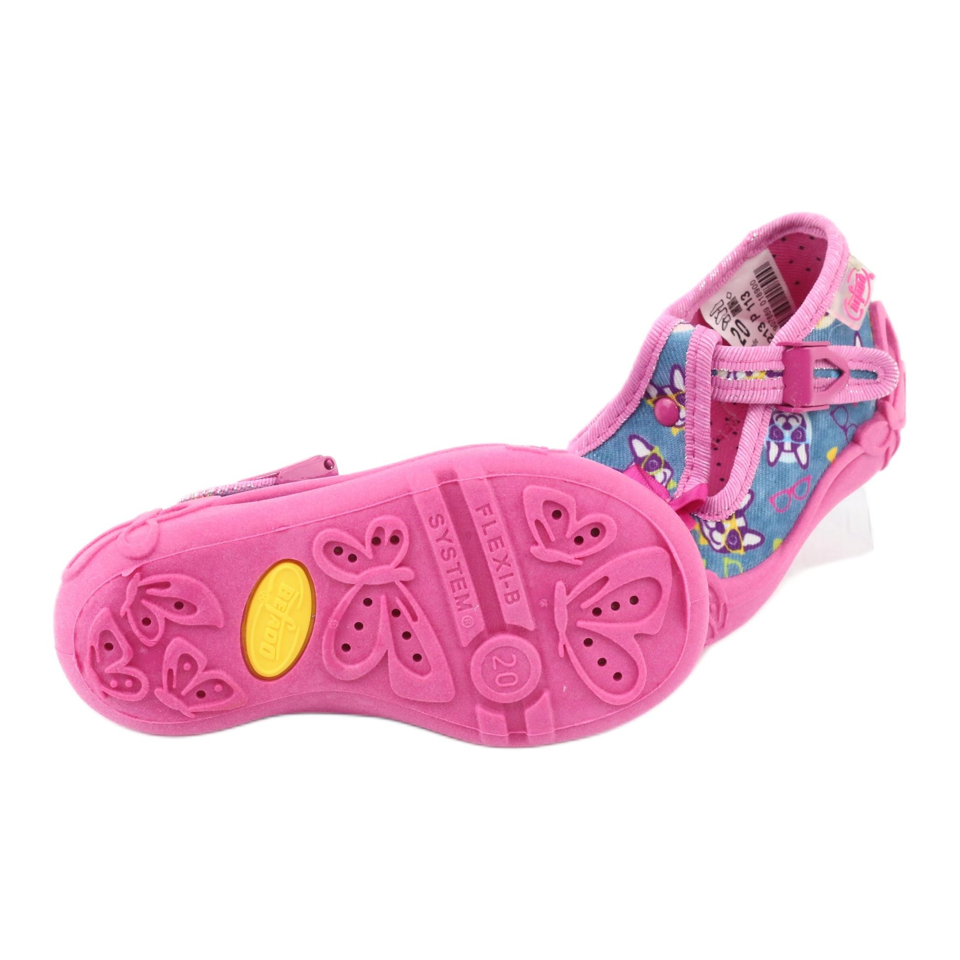 miniatura 7 - Scarpe per bambini rosa Befado 213P113 blu multicolore