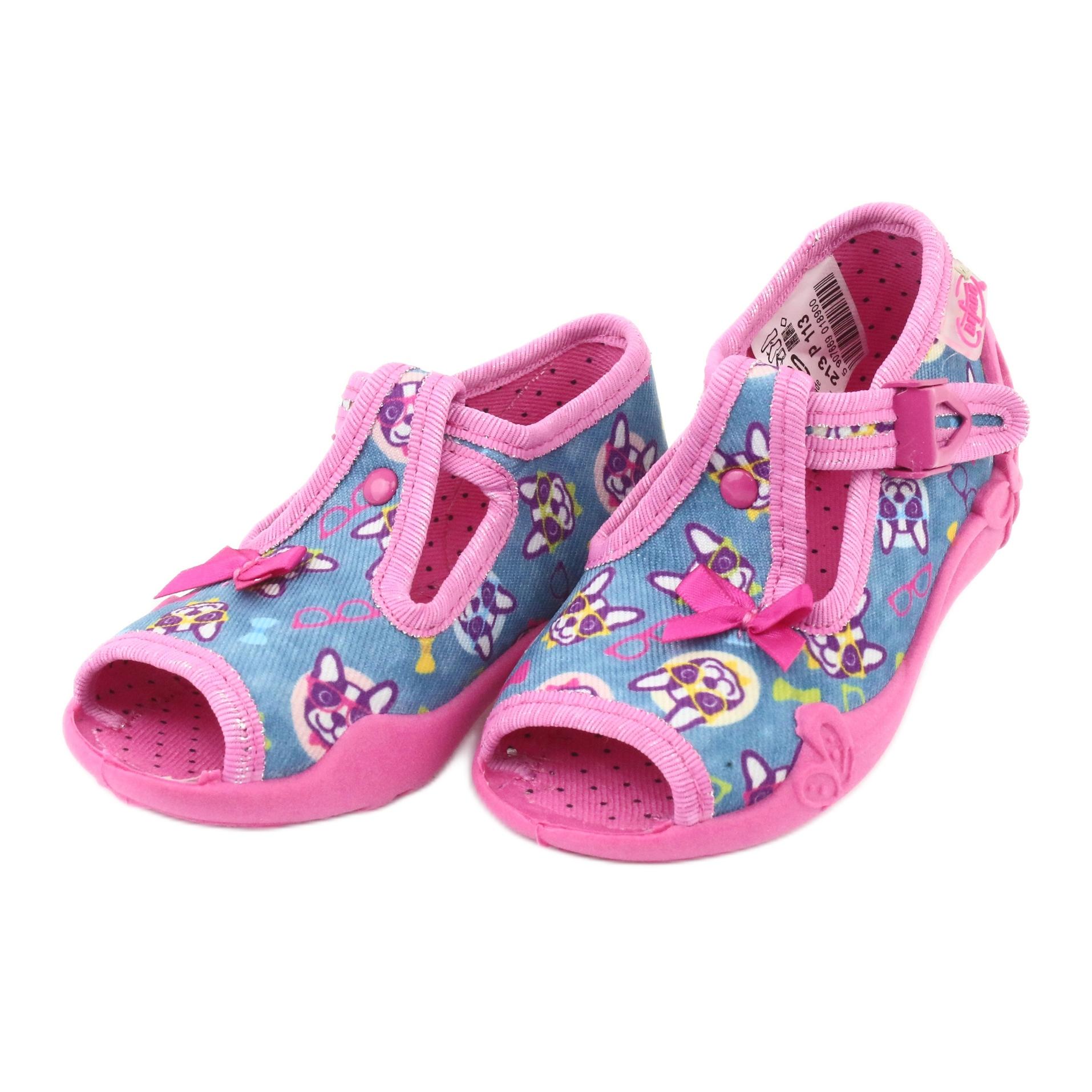 miniatura 5 - Scarpe per bambini rosa Befado 213P113 blu multicolore