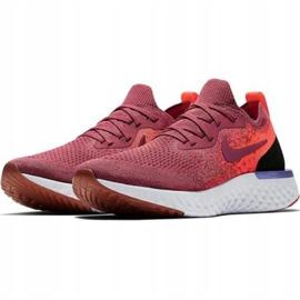 Scarpe da corsa Nike Epic React Flyknit W AQ0070 601 rosso 1