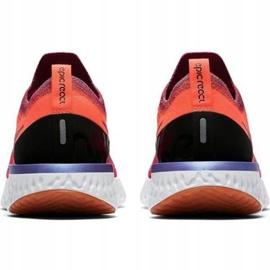 Scarpe da corsa Nike Epic React Flyknit W AQ0070 601 rosso 2