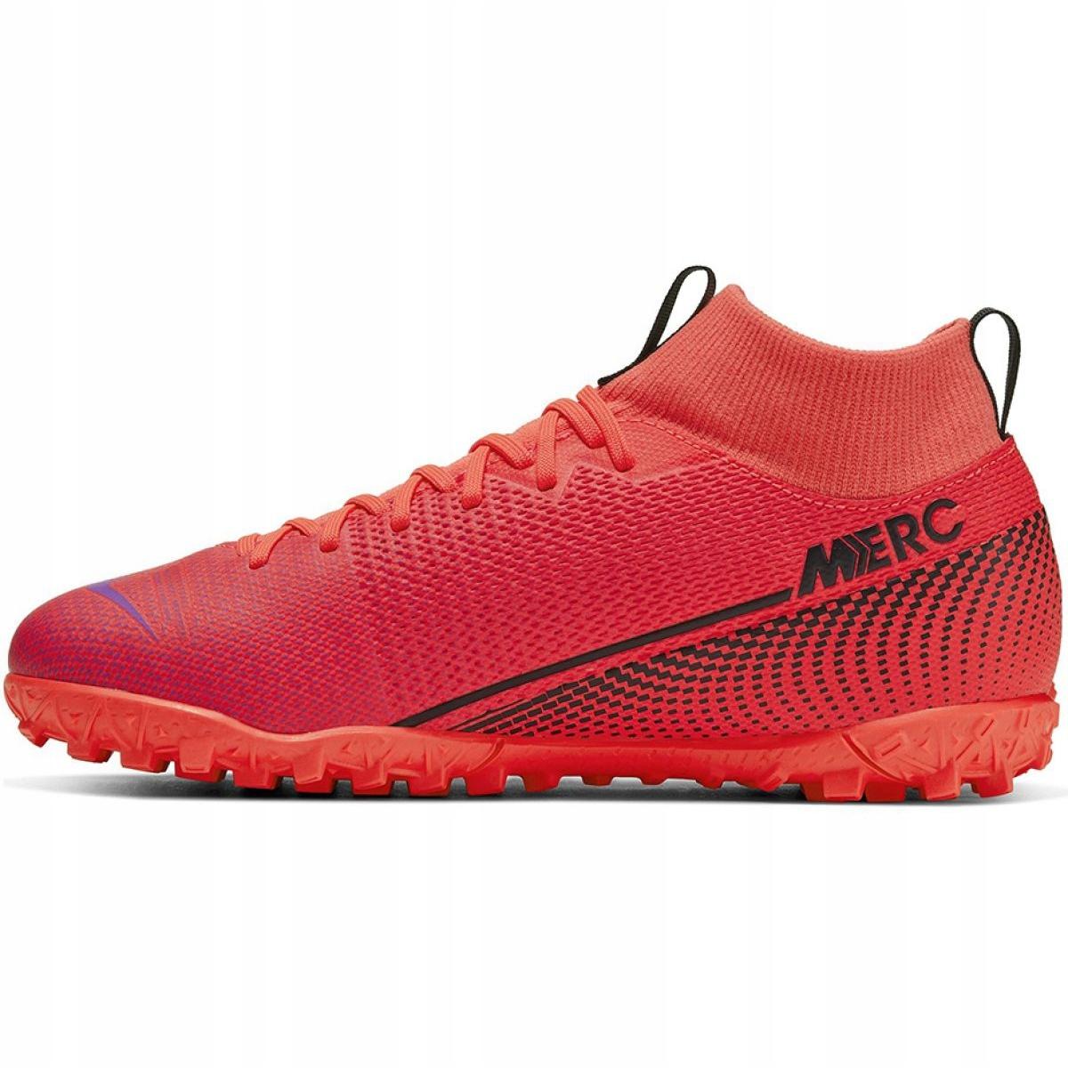 Scarpe-da-calcio-Nike-Mercurial-Superfly-7-Academy-Tf-M-AT7978-606-rosso-rosso miniatura 3