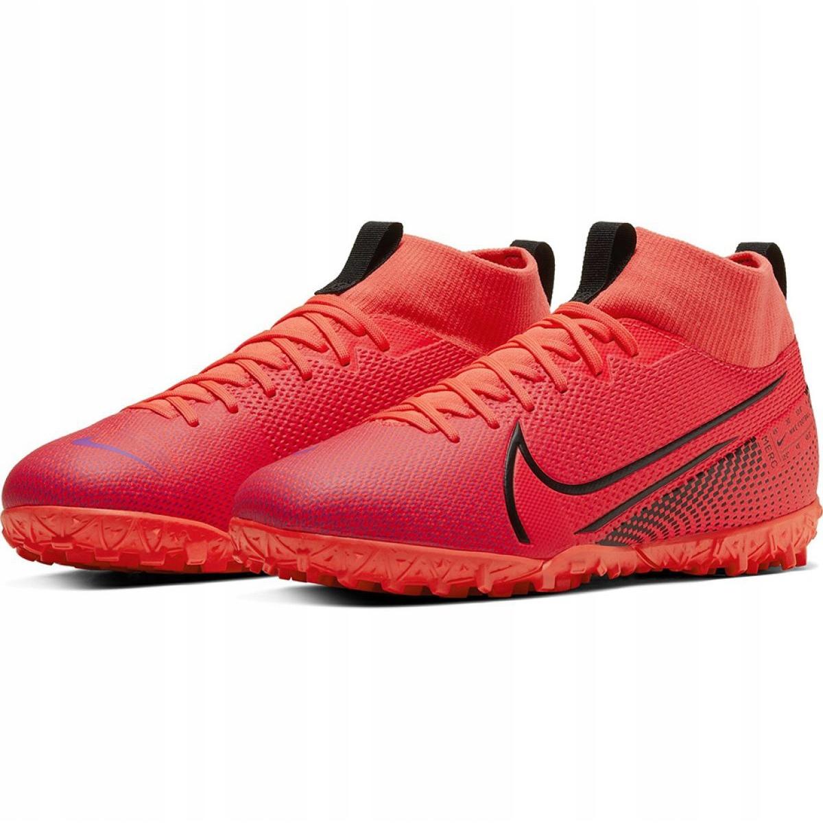Scarpe-da-calcio-Nike-Mercurial-Superfly-7-Academy-Tf-M-AT7978-606-rosso-rosso miniatura 4