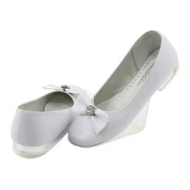 Décolleté comunione ballerine bianche Miko 800 bianco 4