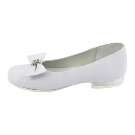 Décolleté comunione ballerine bianche Miko 800 bianco 2