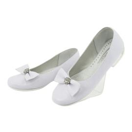 Décolleté comunione ballerine bianche Miko 800 bianco 3