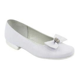 Décolleté comunione ballerine bianche Miko 800 bianco 1