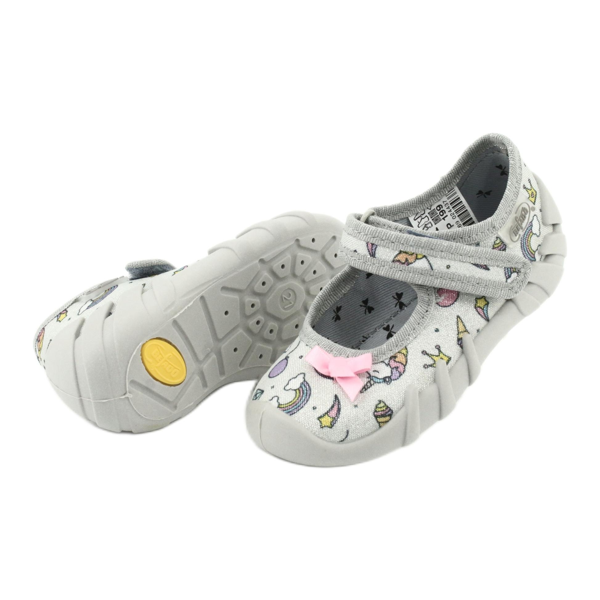 miniatura 6 - Scarpe per bambini Befado 109P199 grigio multicolore