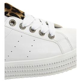 Sneakers leopardate bianche sulla piattaforma M-071 bianco 4