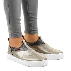 Sneakers dorate con elastico A-92 oro 1