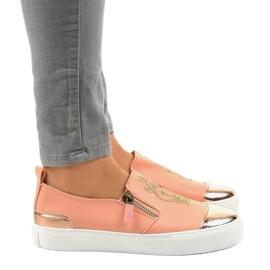 Sneakers senza lacci classiche rosa A-89 2