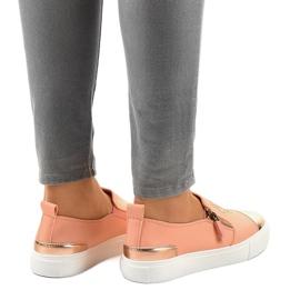 Sneakers senza lacci classiche rosa A-89 3