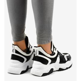 Sneakers da donna in bianco e nero CB-136 4