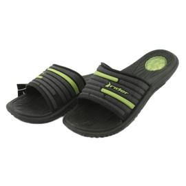 Ciabatte da piscina per uomo Rider 82735 nero / verde 2