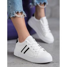 SHELOVET Scarpe sportive con pelle ecologica bianco 1