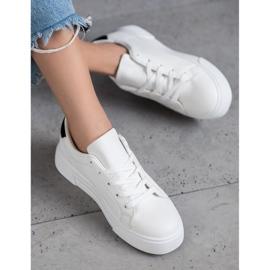 SHELOVET Scarpe sportive con pelle ecologica bianco 2