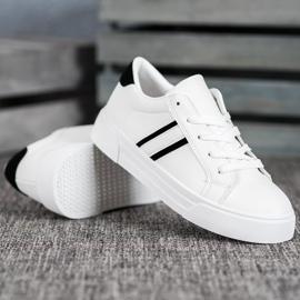 SHELOVET Scarpe sportive con pelle ecologica bianco 4