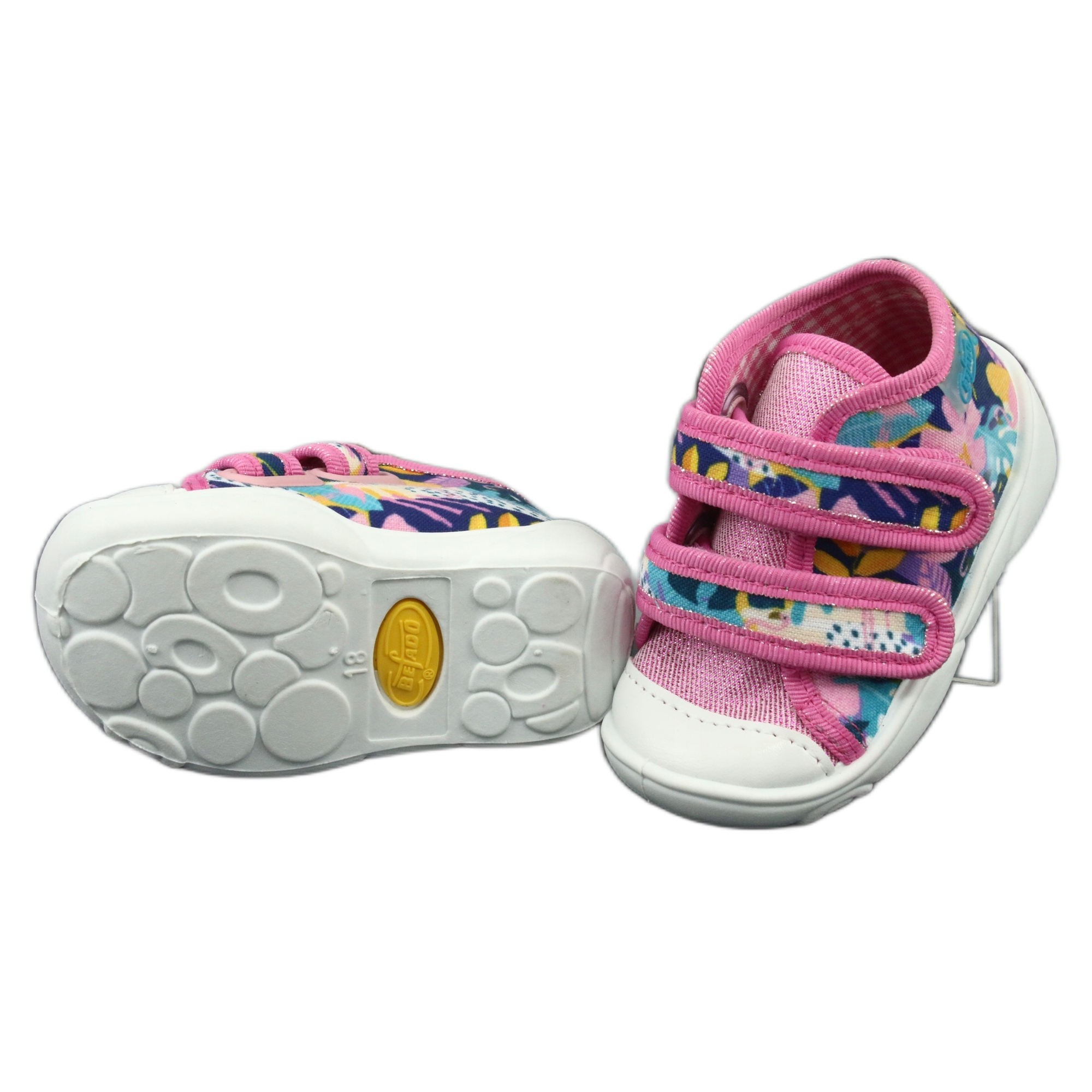 miniatura 4 - Scarpe per bambini Befado arancione 212P064 bianco marina blu rosa giallo
