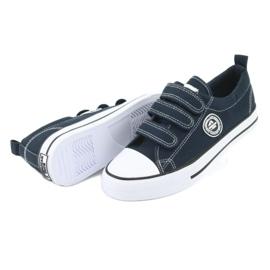 American Club Sneaker per bambini americani con velcro LH33 bianco marina 3