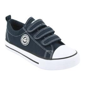 American Club Sneaker per bambini americani con velcro LH33 bianco marina 1
