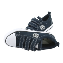 American Club Sneaker per bambini americani con velcro LH33 bianco marina 4