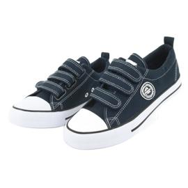 American Club Sneaker per bambini americani con velcro LH33 bianco marina 2