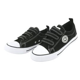 American Club Sneaker per bambini americani con velcro LH33 bianco nero 2