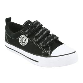 American Club Sneaker per bambini americani con velcro LH33 bianco nero 1
