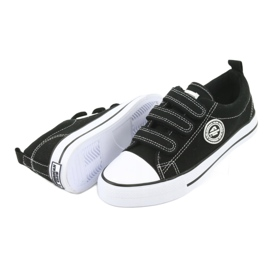 American Club Sneaker per bambini americani con velcro LH33 bianco nero 3