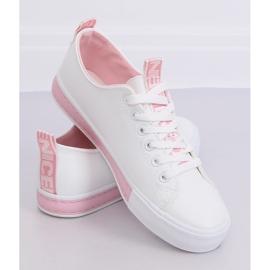 Sneakers da donna bianche CC-17 rosa 2