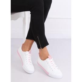 Sneakers da donna bianche CC-17 rosa 1