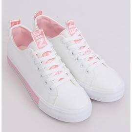 Sneakers da donna bianche CC-17 rosa 4
