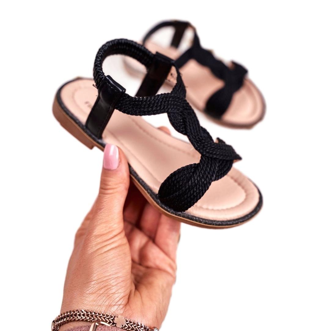 miniatura 3 - FRROCK Sandali neri per bambini Lamado