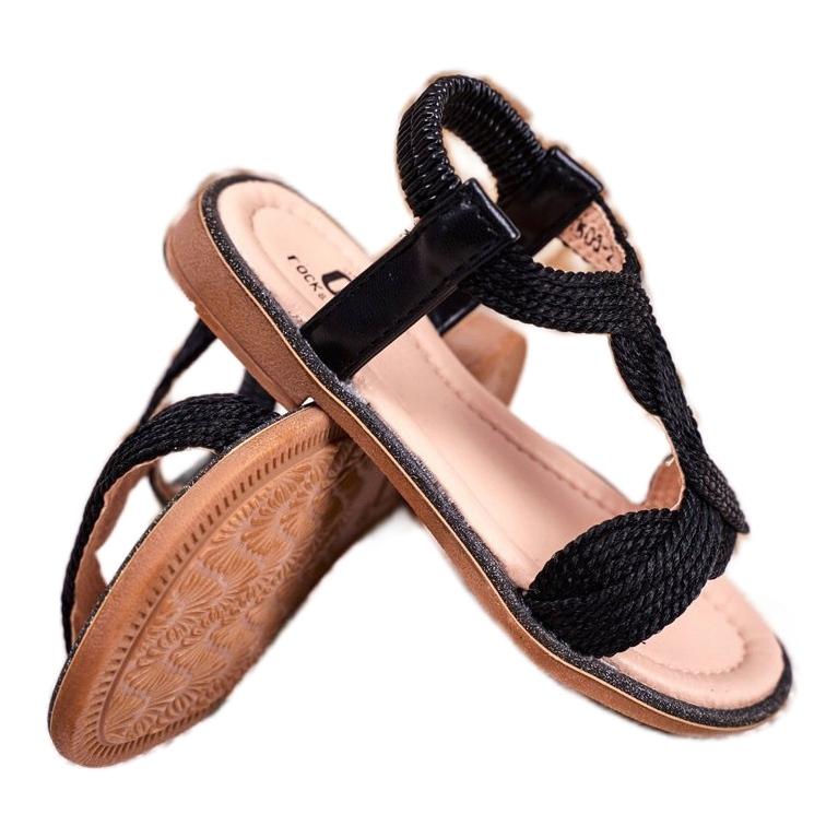 miniatura 4 - FRROCK Sandali neri per bambini Lamado
