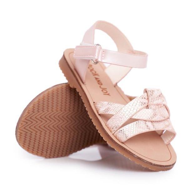 FRROCK-sandali-calzature-per-bambini-bambini-rosa-giallo-eco-pelle miniatura 5
