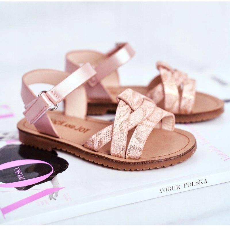 FRROCK-sandali-calzature-per-bambini-bambini-rosa-giallo-eco-pelle miniatura 4