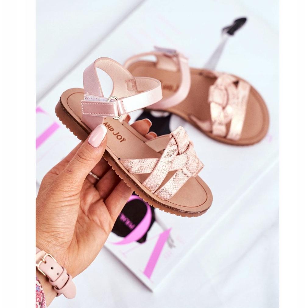 FRROCK-sandali-calzature-per-bambini-bambini-rosa-giallo-eco-pelle miniatura 3