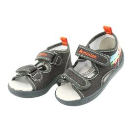 American Club Sandali americani scarpe per bambini sottopiede in pelle TEN46 2