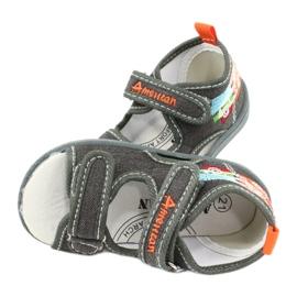 American Club Sandali americani scarpe per bambini sottopiede in pelle TEN46 4
